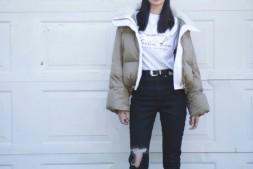 【美天棋牌】沈梦辰分享棉衣时尚穿搭法则 大长腿十分抢镜