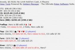 【美天棋牌】德州扑克K3,翻牌圈拿到两对,河牌圈对手全压,怎么打?