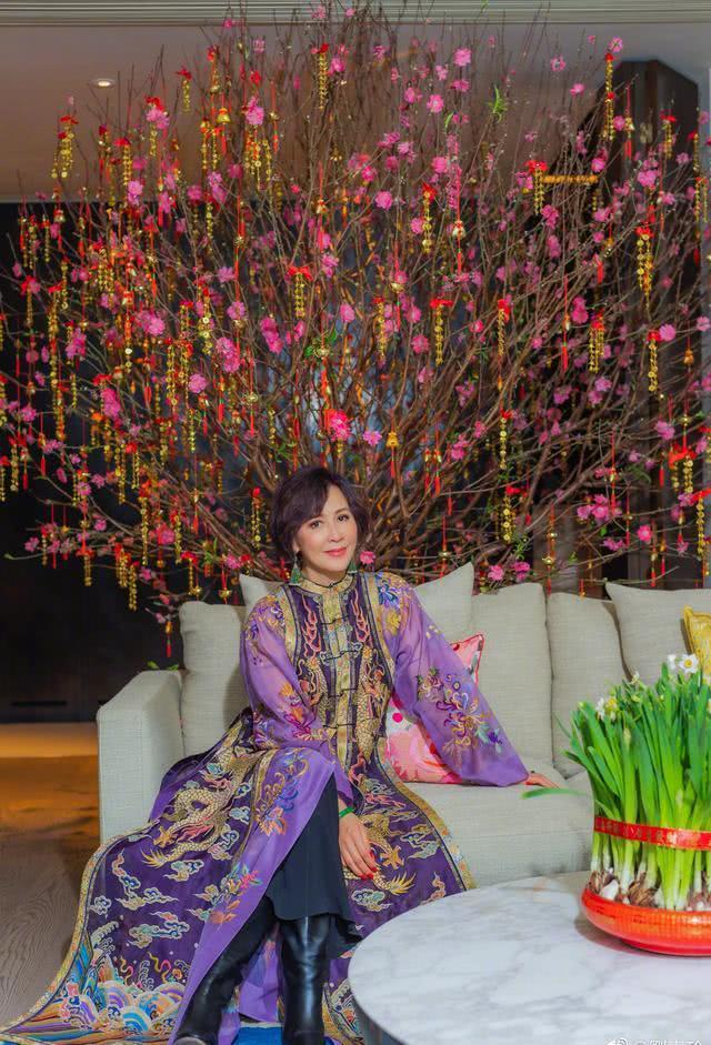 【美天棋牌】刘嘉玲新年写真贵气十足 刘妈妈罕见出境
