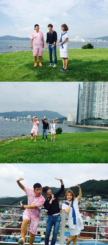 【美天棋牌】郑容和再次出演《快乐大本营》 介绍釜山美景